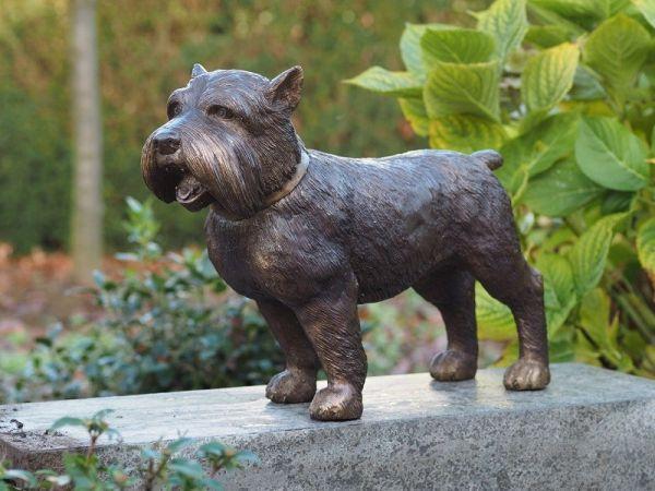 Bronzefigur Yorkshire Hund