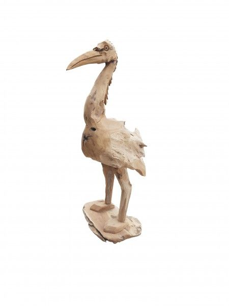 Teakholz Flamingo