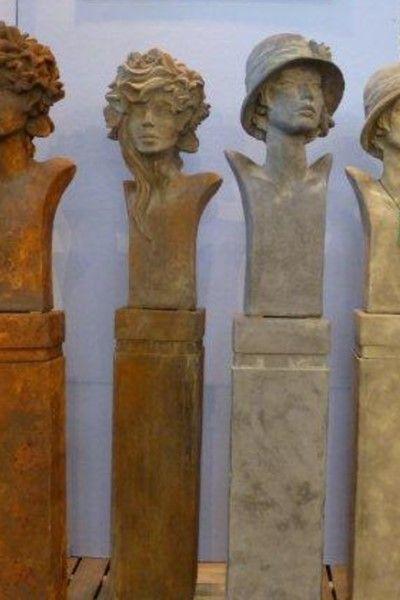 """Gartenfigur Büste Moderne Romantik """"SISALA"""", Edition Oxid"""