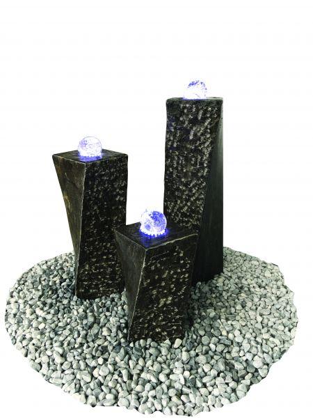 Granit-Wasserspiel Limestone Komplett Set
