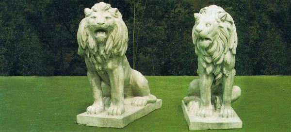 Gartenfigur Zwei Löwen 6008 6009 Schanetti