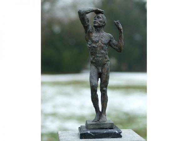 Bronzefigur Skulptur Mann Rodin 45 cm