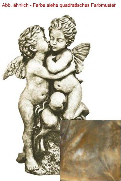 "Gartenfigur Skulpturduett ""DER ERSTE KUSS"" Rosteffekt"