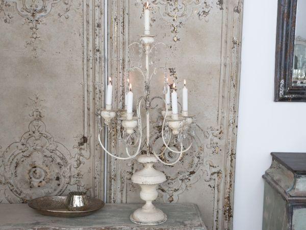 Franz. Armleuchter 7 Kerzen mit Prismen von Chic Antique