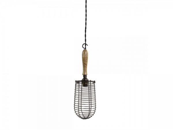 Factory Lampe mit Netz Handgemacht von Chic Antique