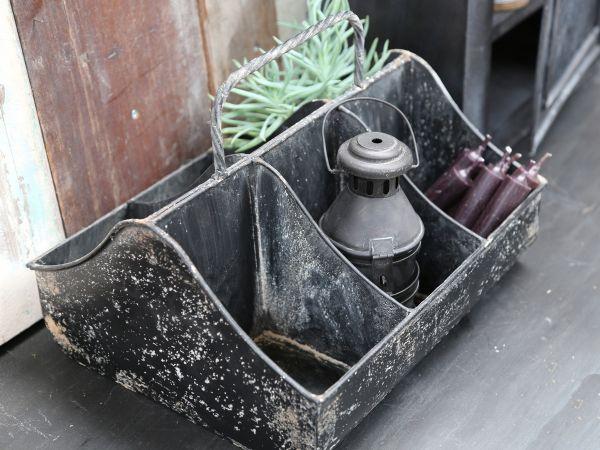 Kiste mit 6 Fächern und Griff von Chic Antique