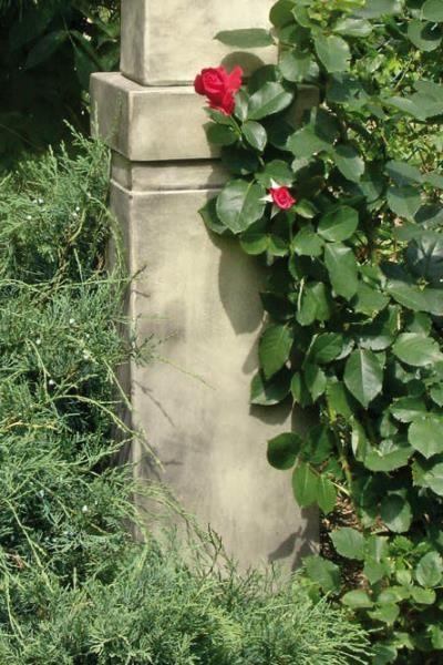 Sockel für Gartenfigur Büste Moderne Romantik, Steinguss