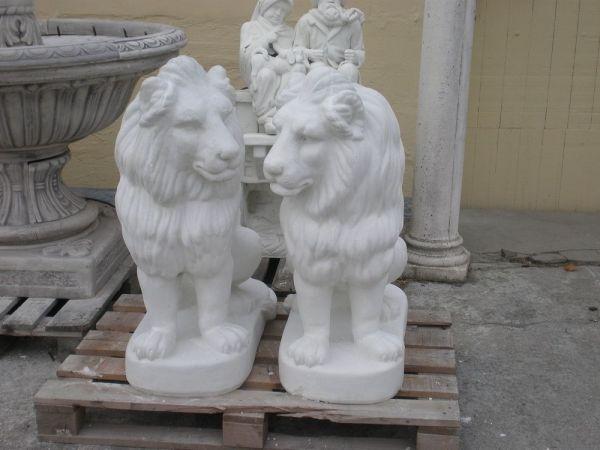 Gartenfigur Zwei Löwen