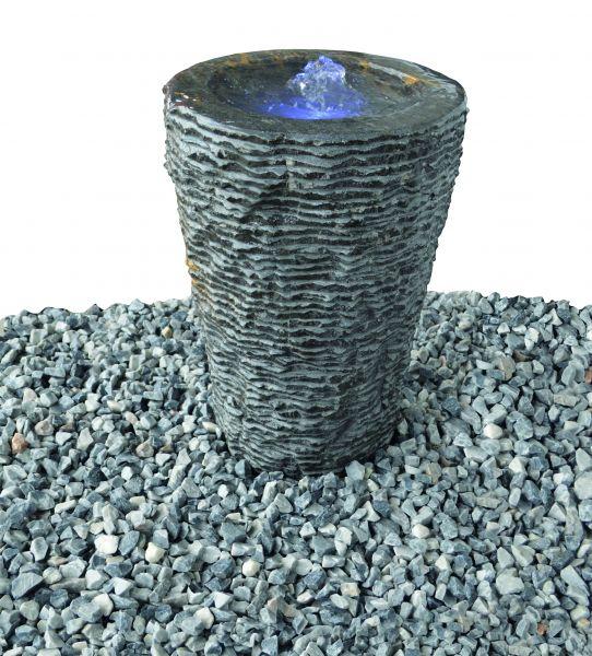Wasserspiel Aqua Vase geriffelt groß