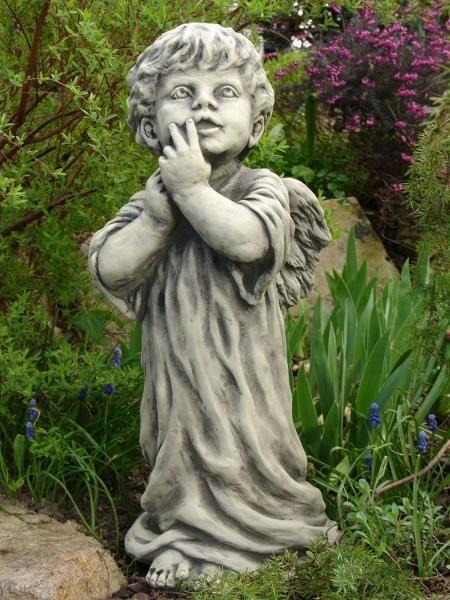"""Gartenfigur Engel, """"ZECHIEL"""", Steinguss"""