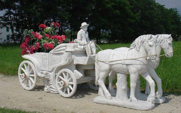 Gartenfigur Pferdekutsche TE 442 DG