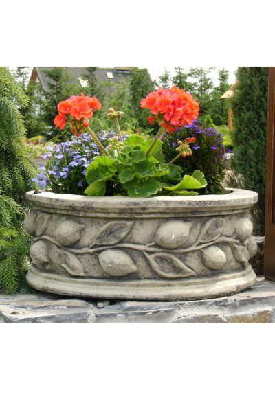"""Garten- und Pflanzgefäß """"POTTI"""", Steinguss"""