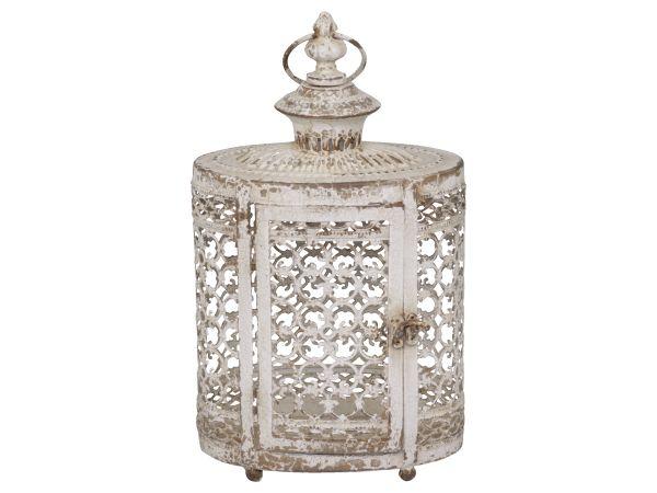 Laterne mit Perlenkante von Chic Antique