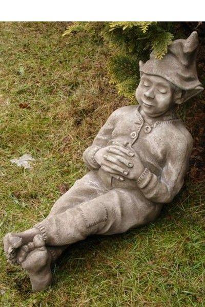 """Gartenfigur """"SCHLAFENDER WICHTEL"""" © by Fiona Scott, Steinguss"""