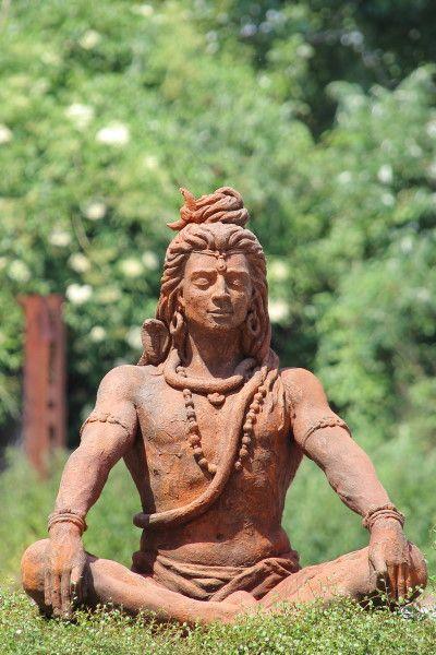 """Gartenfigur Figur """"SHIVA"""" Steinguss, Edition Oxid"""