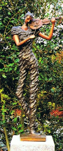 Bronzefigur Geiger Modern