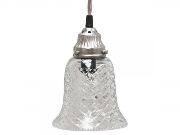 Lampe Glocke Glas von Chic Antique