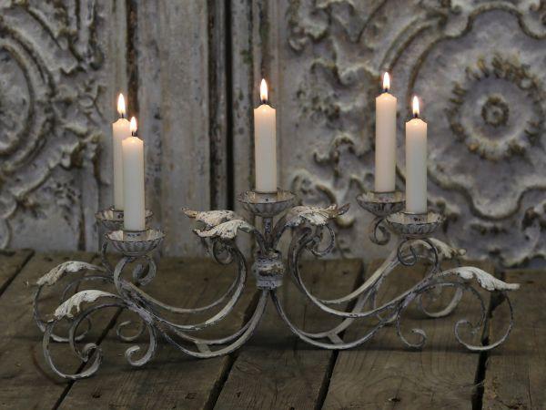 Franz. Kerzenständer für 5 Kerzen von Chic Antique