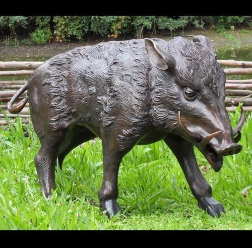 Bronzefigur Wildschwein