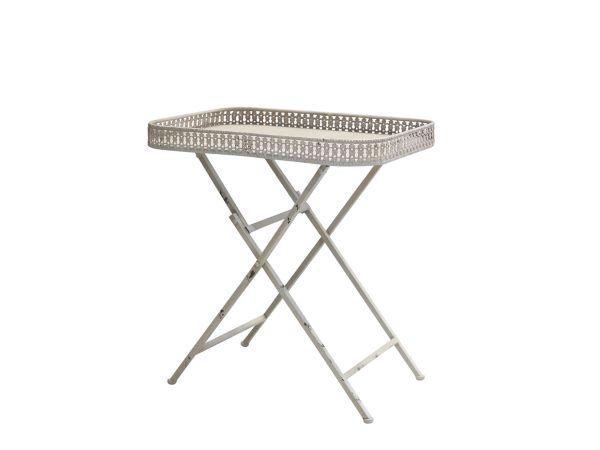 Tisch mit Spitzenkante von Chic Antique