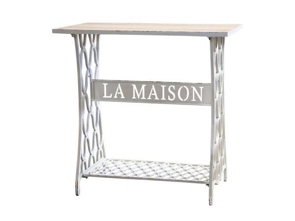 """GusseisenTisch m. Ablage """"La Maison"""" von Chic Antique"""