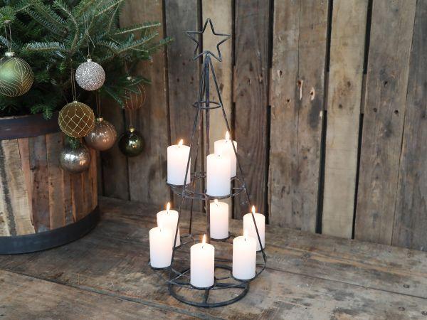Weihnachtsbaum für 9 Teelichter von Chic Antique