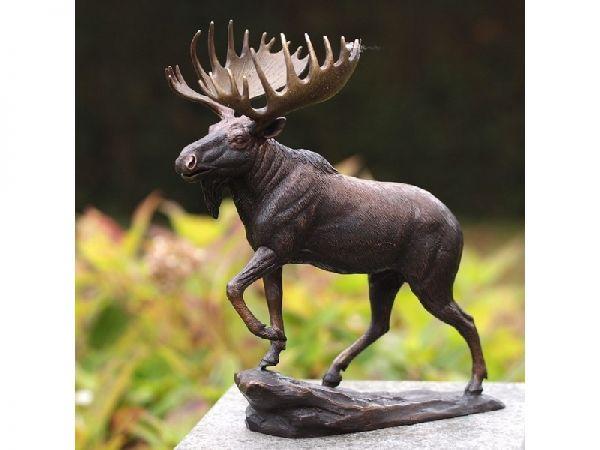 Bronzefigur Elch