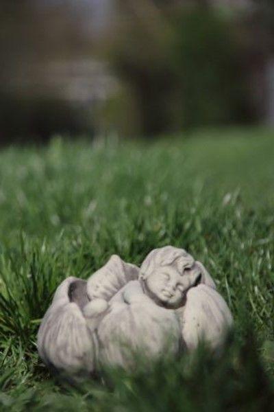 """Gartenfigur Sprössling """"SEEROSE"""", Steinguss"""
