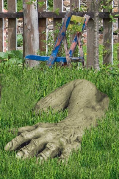 Gartenfigur Hand zu Troll Magnus (Carlos junior)