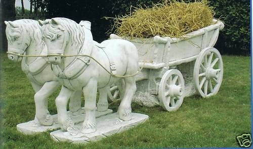 Gartenfigur Pferdekutsche TE 418 DG