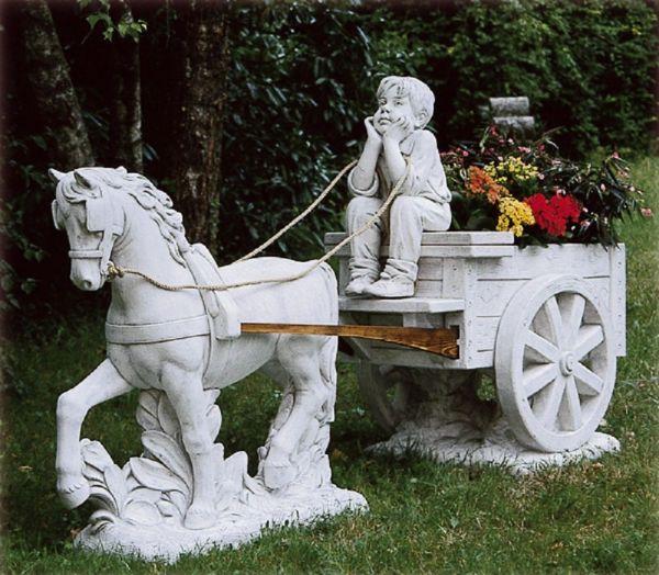 Gartenfigur Pferdekutsche TE 429 DG