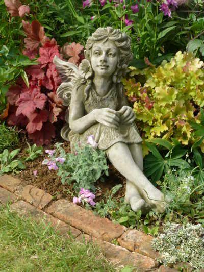 """Gartenfigur """"FLEUR"""", Art-Nouveau Elfe, © by Fiona Scott"""