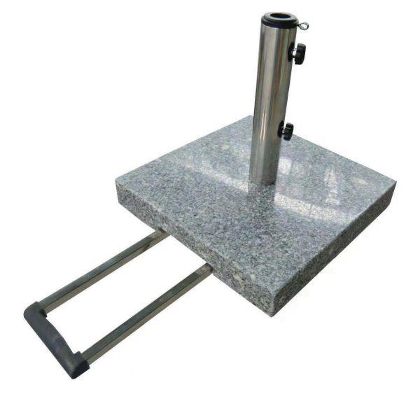 Schirmständer, granit, poliert, eckig, grau von Naturstein Geukes