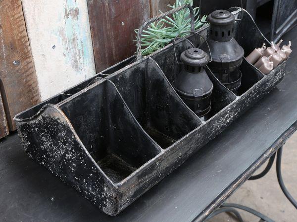 Kiste mit 10 Fächern und Griff von Chic Antique