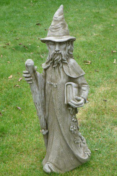 """Gartenfigur """"MERLIN"""", Zauberer, © by Fiona Scott"""