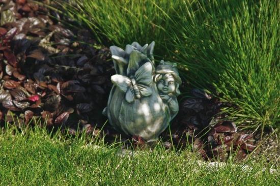 """Gartenfigur Sprössling """"TULPE"""", Steinguss"""