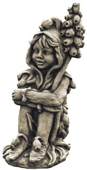 "Gartenfigur FLOWER FAIRY ""Muscari"", Steinguss"