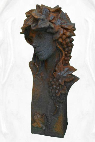 """Gartenfigur Büste Moderne Romantik """"HERBST"""", Edition Oxid"""