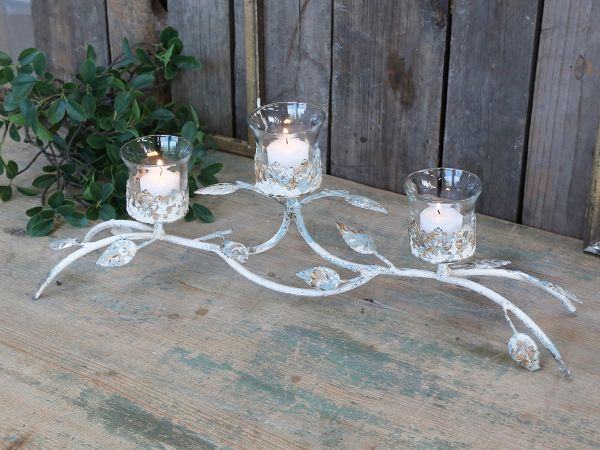 Franz. Teelichthalter für 3 Kerze von Chic Antique