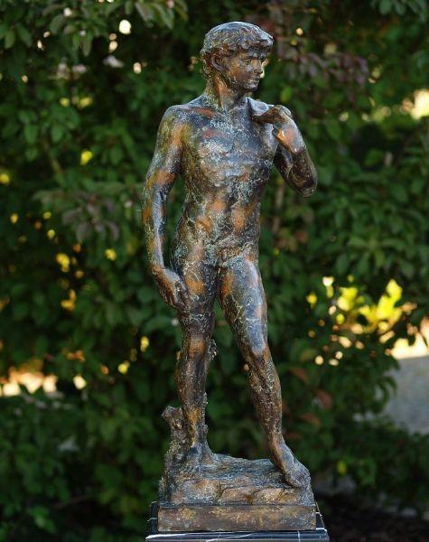 Bronzefigur David aus Bronze