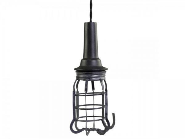 Factory Arbeitslampe mit Netz Handgemacht von Chic Antique