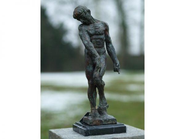 Bronzefigur Adam von Rodin klein