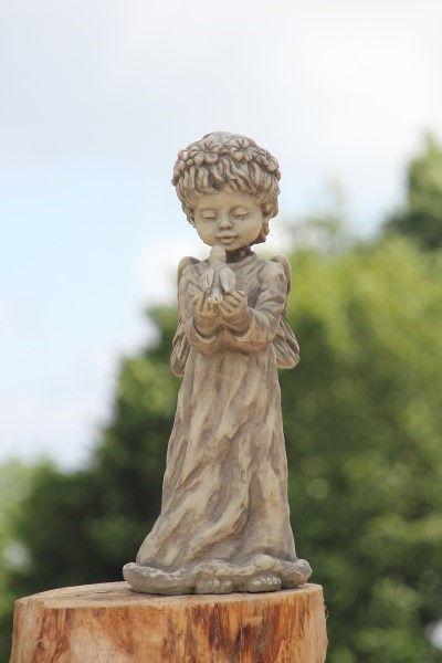 """Gartenfigur Engel """"TALIA"""", stehend, Steinguss"""