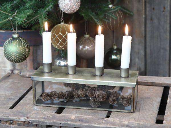 AdventskerzenhalterDeckel 4 Kerzen von Chic Antique