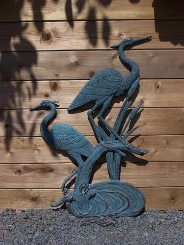Bronzefigur Zwei Reiher zum Hängen