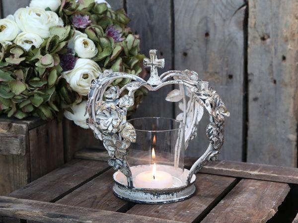 Krone Kerzenständer mit Rosen von Chic Antique