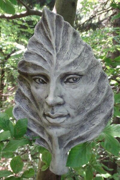 "Gartenfigur Blatt ""BUCHE"", Steinguss"