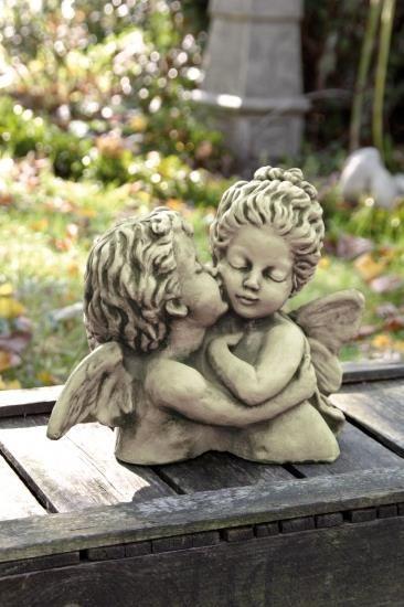 """Gartenfigur Büste """"DER ERSTE KUSS"""" William Bouguereau"""