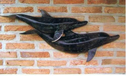 Bronzefigur Delfin Figur aus Bronze HW 0095 BR-A