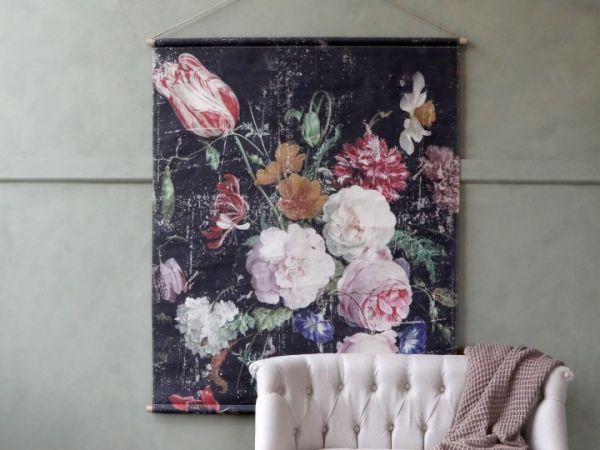 Leinwand z. hängen m. franz. Blumendruck von Chiq Antique